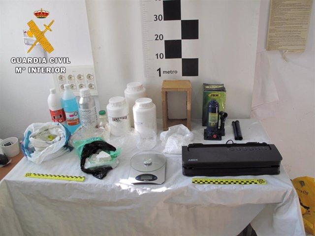 Laboratorio de cocaína situado en Ugíjar (Granada)