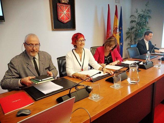 La consejera de Salud, Santos Induráin, en el Parlamento.