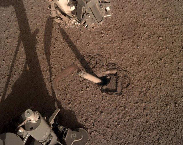 Posición actual del 'topo' de Marte