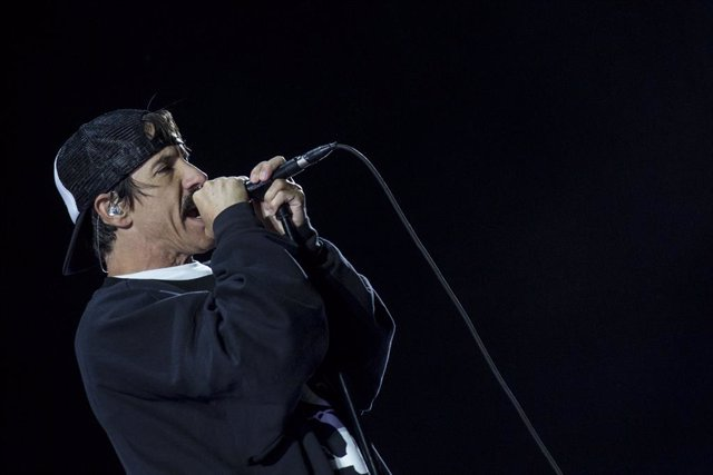 15 March 2019, Egypt, Cairo: Singer Anthony Kiedis performs with US band the Red Hot Chili Peppers at the Giza Pyramids outside Cairo. Photo: Gehad Hamdy/dpa