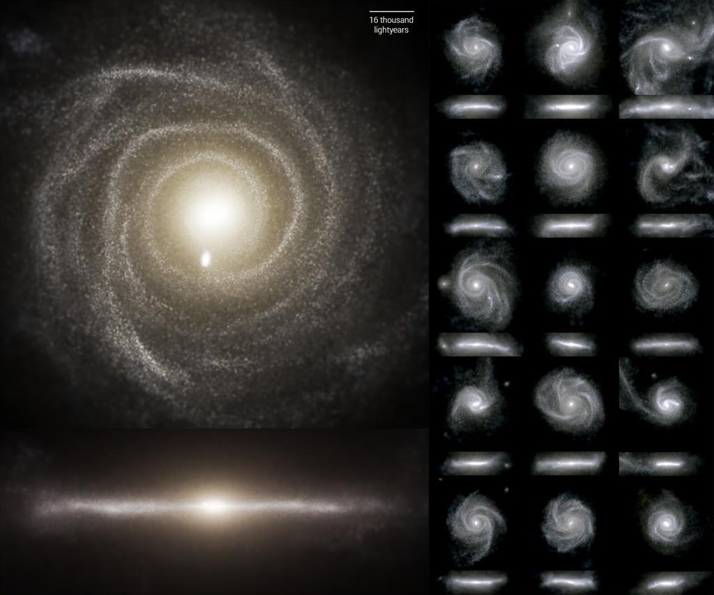 Científicos presentan TNG50, la simulación más detallada de la vida de una galaxia