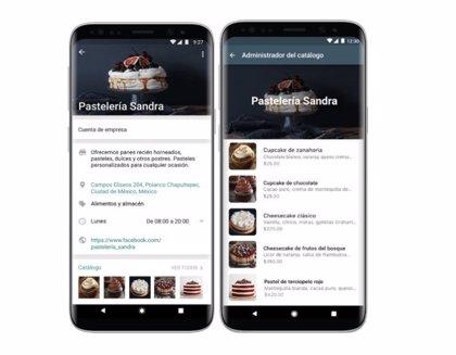 WhatsApp habilita una función para que las pequeñas empresas puedan presentar su catálogo de productos dentro de la app