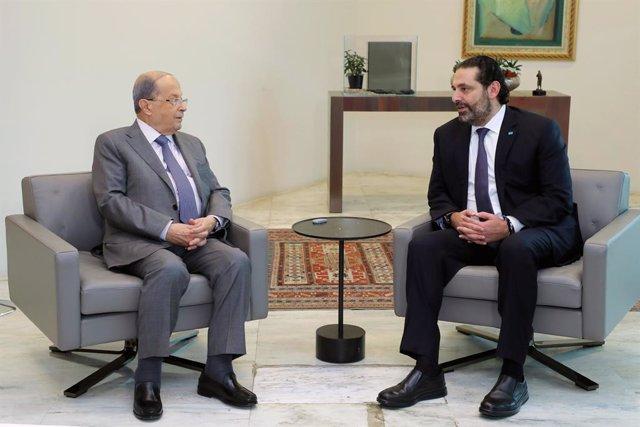 """Líbano.- El presidente y el primer ministro de Líbano se reúnen para """"encontrar"""