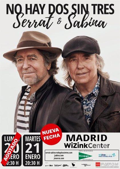 Serrat y Sabina agotan las entradas en horas y anuncian segundo concierto en Madrid