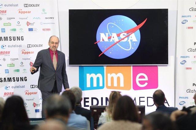 El imagery manager de la Estación Espacial Internacional (ISS), Carlos Fontanot, interviene en el 4K Summit.
