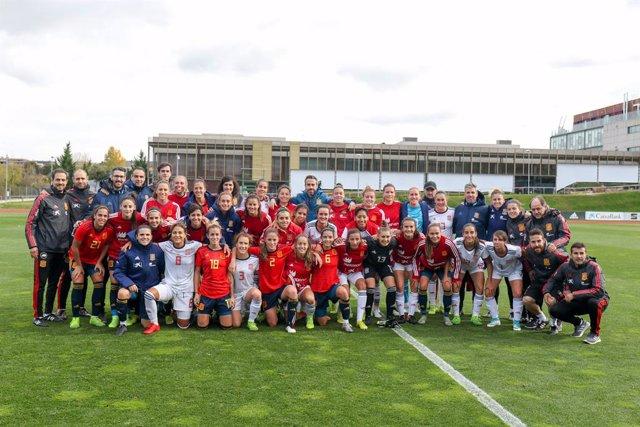 Fútbol.- La selección femenina ensaya su duelo ante Polonia con victoria (3-2) a