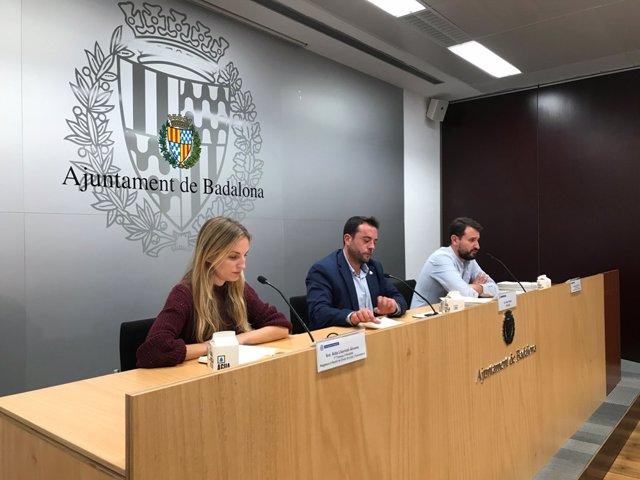 Aïda Llauradó, Álex Pastor y Rubén Guijarro