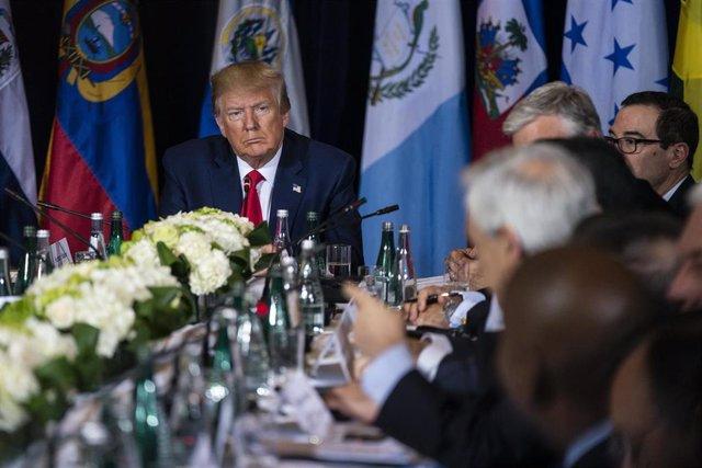 El presidente de Estados Unidos, Donald Trump, reunido con presidentes latinoamericanos
