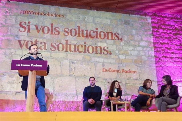 Jaume Asens, Ismael Cortés, Aina Vidal, Yolanda López i Carla Aguilar