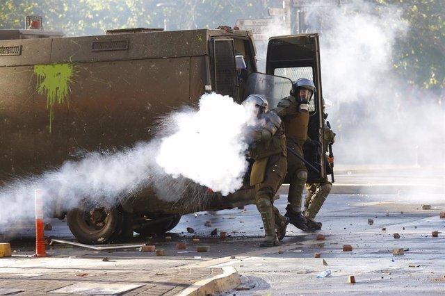 Incidentes durante las protestas en Chile