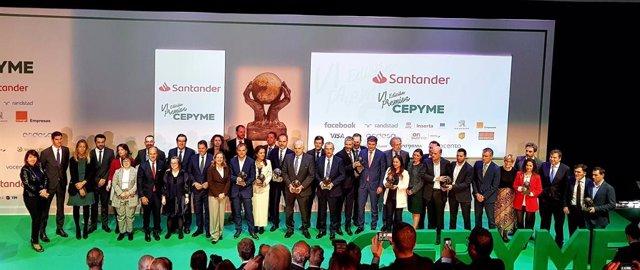 COMUNICADO: Normadat ganadora en los VI Premios CEPYME en el Auditorio del Banco