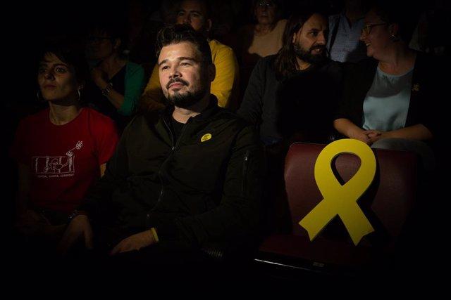 El candidat a diputat al Congrés Gabriel Rufián (ERC).