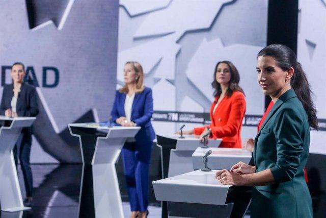 Irene Montero, Ana Pastor,  Inés Arrimadas i Rocío Monasterio, en el debat a La Sexta.