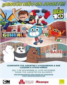 COMUNICADO: Somos Osos, Ben 10 y Gumball se unen para recoger juguetes con Alcam