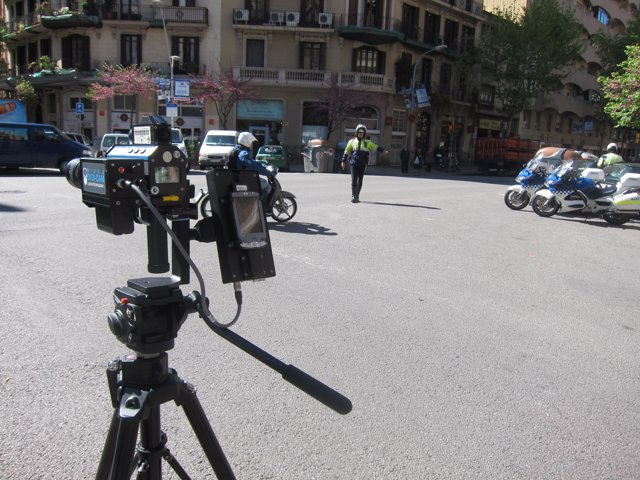 Radar Móvil En Las Calles De Barcelona
