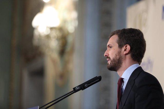 El president del PP i candidat a la Presidència del Govern espanyol, Pablo Casado, Madrid (Espanya), 6 de novembre del 2019.