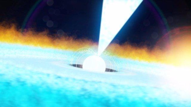 Explosión sobresaliente de rayos X en un púlsar a 11.000 años luz