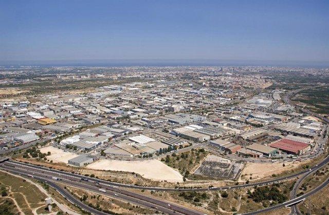 Polígono industrial en Paterna (Valencia)