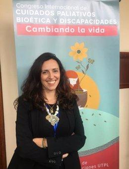 La directora del proyecto y directora del programa 'Todos Contigo' de la Fundación New Health, Silvia Librada, en Ecuador