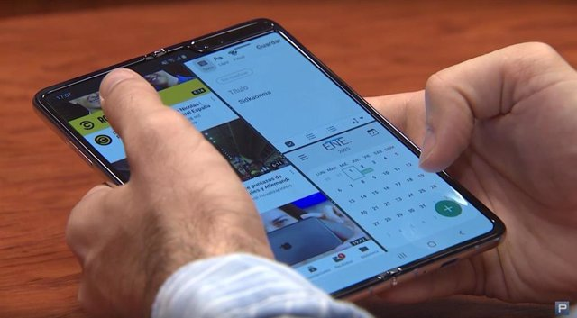 Multitarea en el móvil plegable Galaxy Fold de Samsung