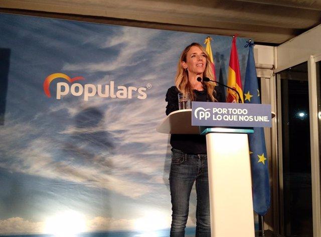 La candidata del PP a les eleccions generals per Barcelona, Cayetana Álvarez de Toledo, en l'acte d'inicio de campanya del 10N.