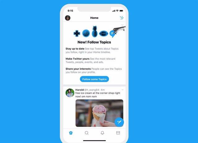 Twitter lanza su nueva función Temas