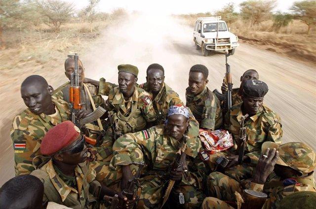 Soldados de Sudán del Sur