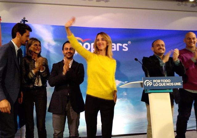 Dante Pérez, María de los Llanos de Luna, Óscar Ramírez, Cayetana Álvarez de Toledo, Alejandro Fernández y Jordi Roca (PP)