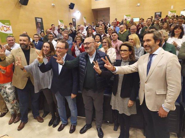 Acto de cierre de campaña de Vox en Córdoba