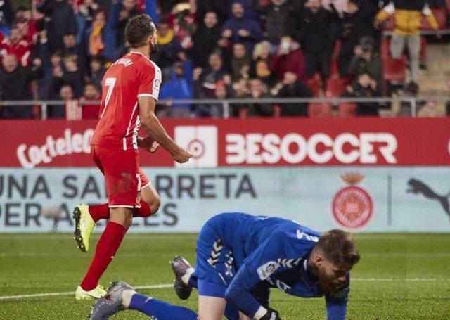 Fútbol/Segunda.- Stuani da la victoria a un Girona que se mete en 'play-off'