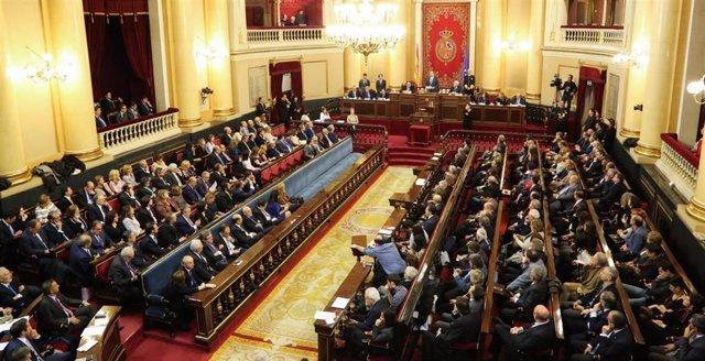 Pleno de constitución del Senado, hemiciclo antiguo, en la XI legislatura