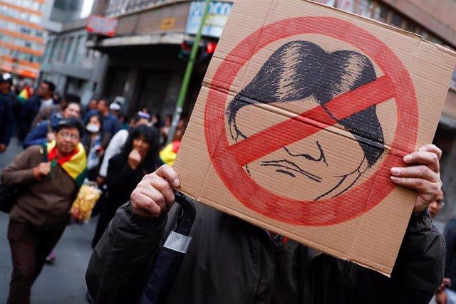 Manifestación contra el presidente de Bolivia, Evo Morales, en La Paz