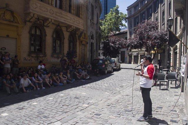 Estudiantes movilizados en Chile