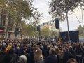 Acaba en Barcelona el acto festivo de Tsunami Democràtic 7 horas después