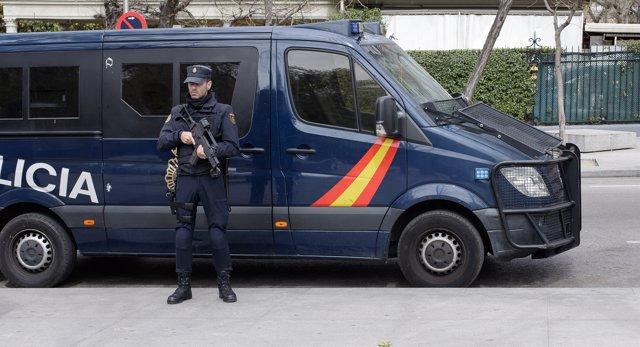 Furgón de la Policía Nacional en una imagen de archivo