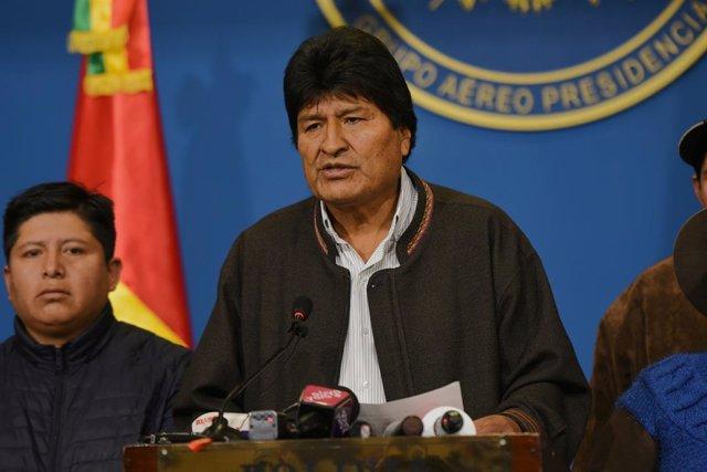 Bolivia.- Morales denuncia que el golpe de Estado continúa pese al anuncio de nu