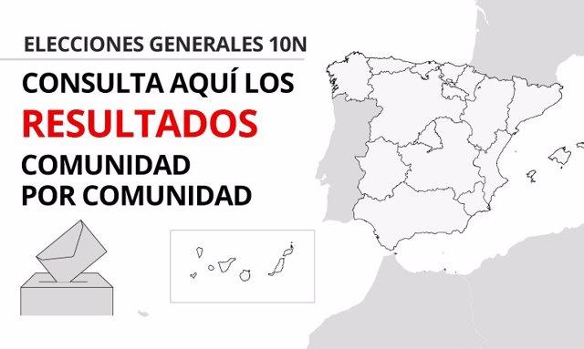 Mapa Region De Murcia Elecciones.Resultados Elecciones Noviembre 2019 En Cada Comunidad Autonoma