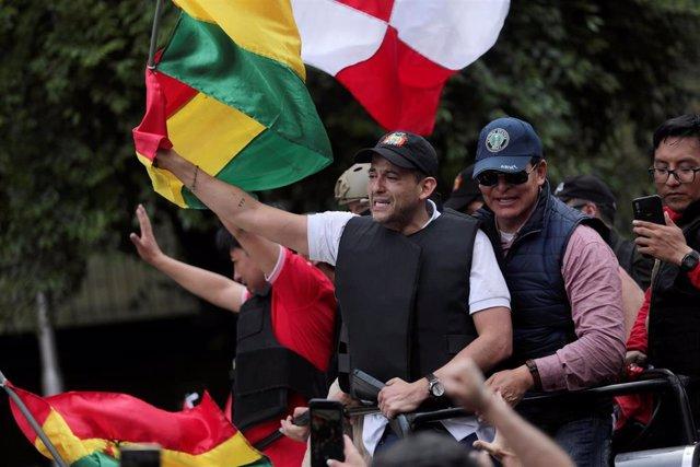 El dirigente opositor boliviano Fernando Camacho en La Paz