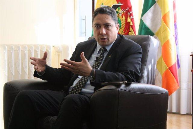 Héctor Arce, ministro de Justicia boliviano.