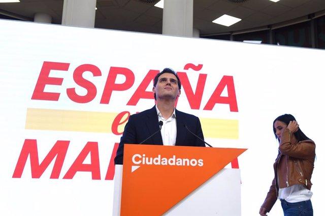 El líder de Ciutadans, Albert Rivera, després dels resultats del 10N.