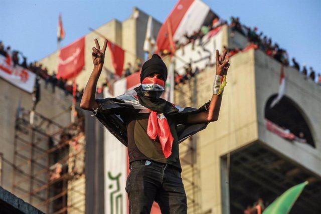 Manifestacions a Bagdad
