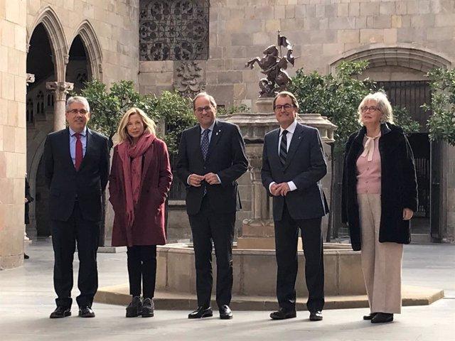 F.Homs, J.Ortega, Q.Torra, A.Mas i I.Rigau
