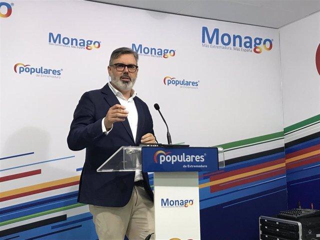 El portavoz del PP en Extremadura, Fernando Pizarro.