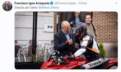 Igea, Fuentes y Mayo lamentan la dimisión de Rivera y agradecen, a través de Twitter, su labor como presidente de Cs