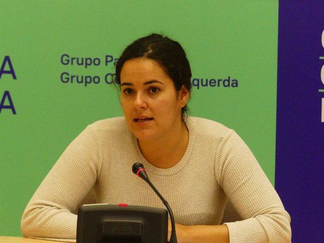 La portavoz de En Común da Esquerda, Luca Chao, valora los resultados de las elecciones del 10 de noviembre