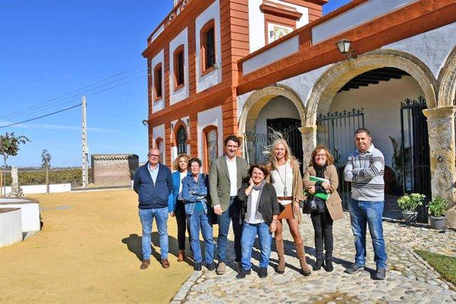 Daniel Sánchez en la casa de viña La Bendita Locura en El Puerto