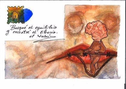 La muestra 'Voces del silencio' reflexiona en San Sebastián sobre el suicidio a través de ilustración y cerámica