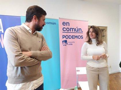 """En Común urge al PSOE a aclarar si quiere un gobierno """"de izquierdas"""" que """"combata"""" a la extrema derecha"""