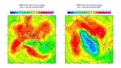 El agujero de ozono más pequeño en 35 años se cierra prematuramente