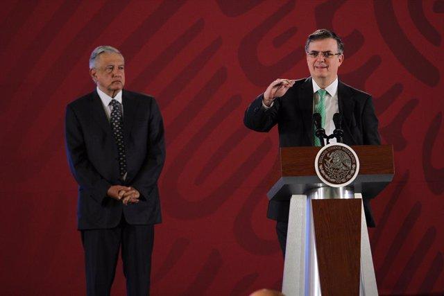 Marcelo Ebrard i Andrés Manuel López Obrador